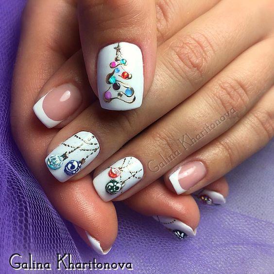 Гирлянда на ногтях (2)