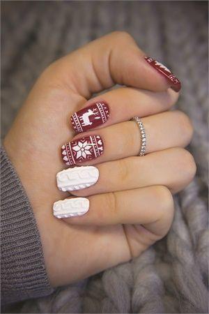 Снеговик на ногтях (2)
