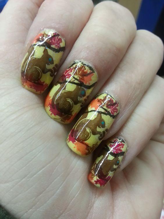 Белка на ногтях (3)