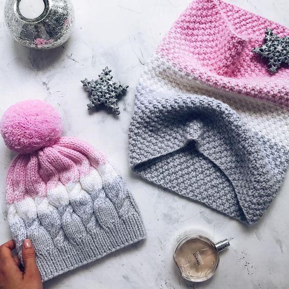Вязаные шапки 2019 (27)