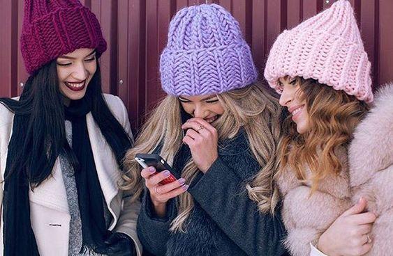 Вязаные шапки 2019 (38)