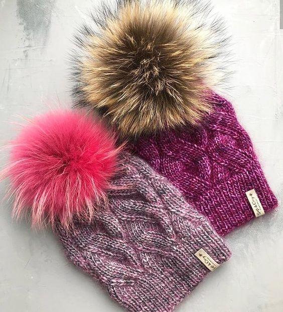 Вязаные шапки 2019 (36)