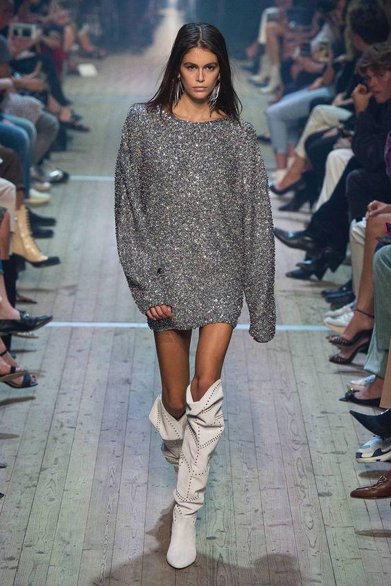 Вязаные платья 2019 (21)