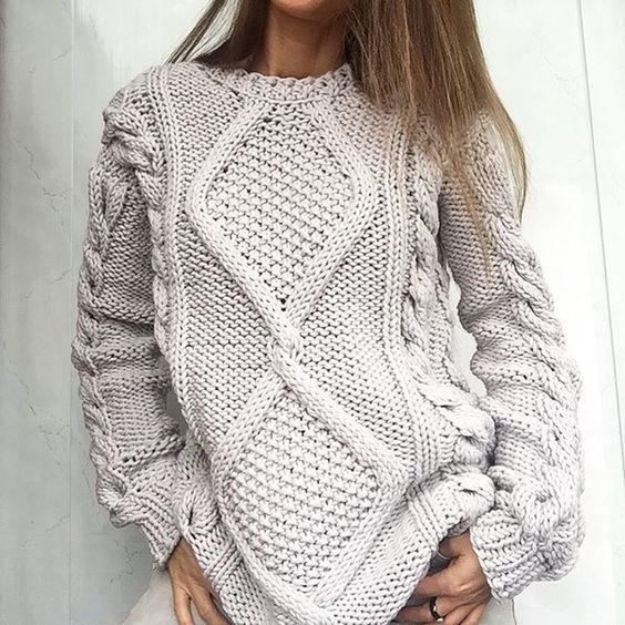 Вязаные платья 2019 (11)