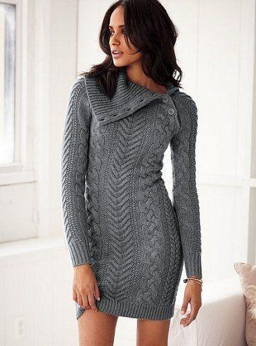 Вязаные платья 2019 (18)