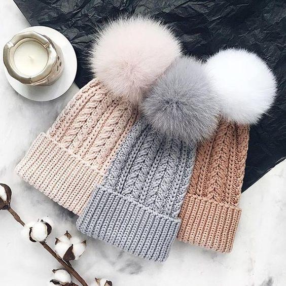 Вязаные шапки 2019 (20)