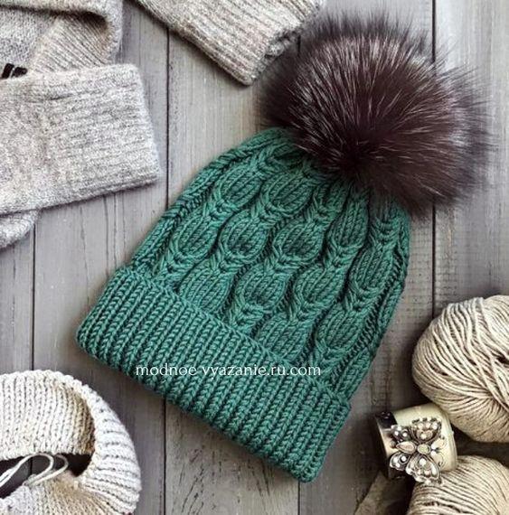 Вязаные шапки 2019 (18)