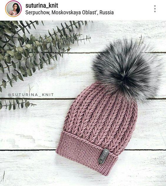 Вязаные шапки 2019 (11)
