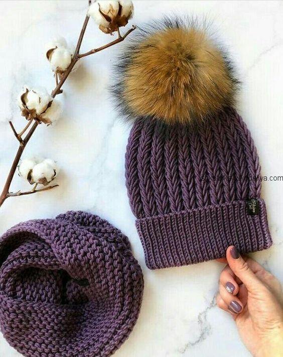Вязаные шапки 2019 (7)