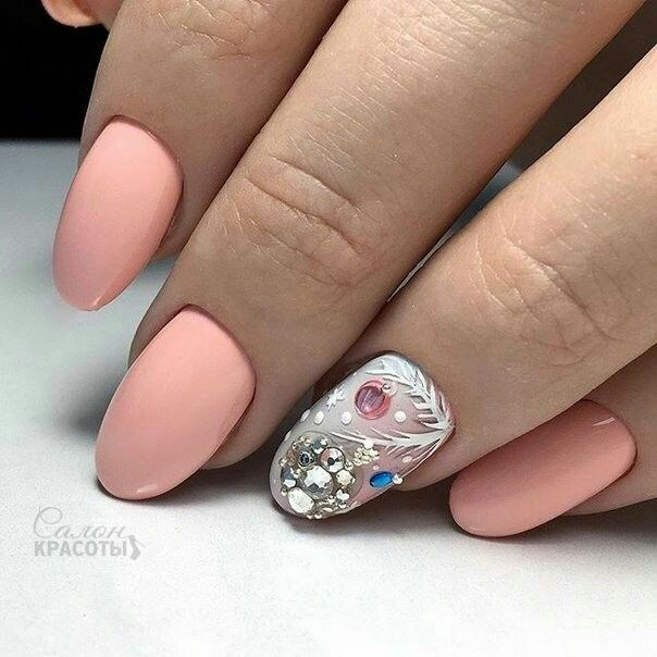 Нежный дизайн ногтей весна 2019 (51)