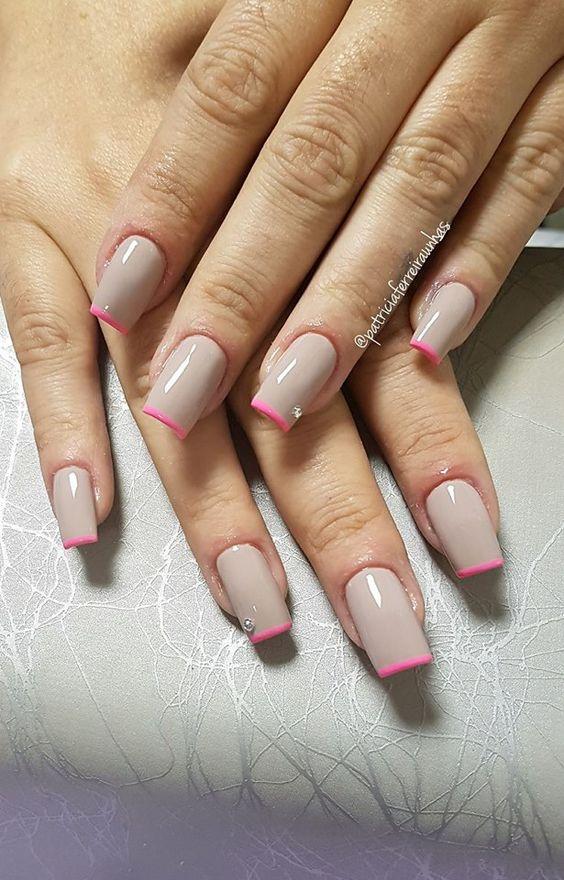Нежный дизайн ногтей весна 2019 (18)
