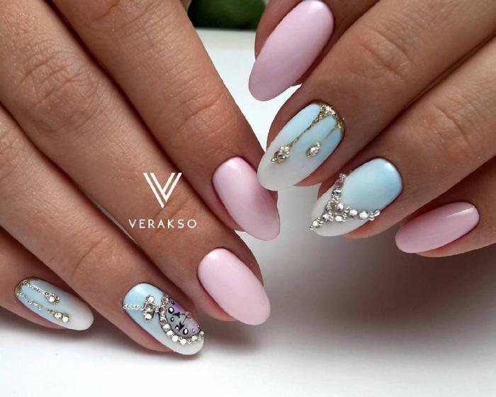 Нежный дизайн ногтей весна 2019 (52)