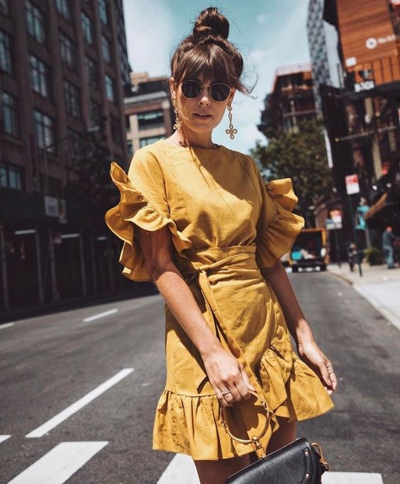 Жёлтое платье 2019 (10)