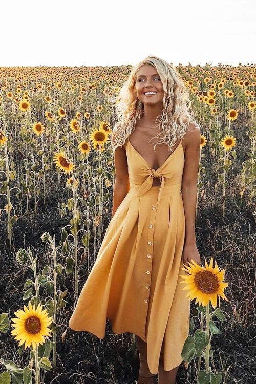 Жёлтое платье 2019 (9)