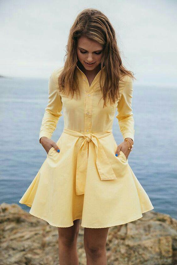 Жёлтое платье 2019 (8)