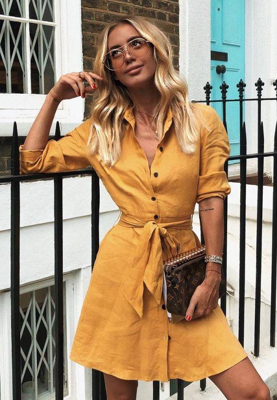Жёлтое платье 2019 (5)
