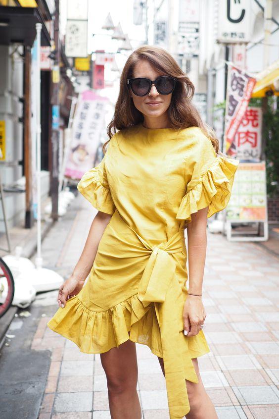 Жёлтое платье 2019 (4)