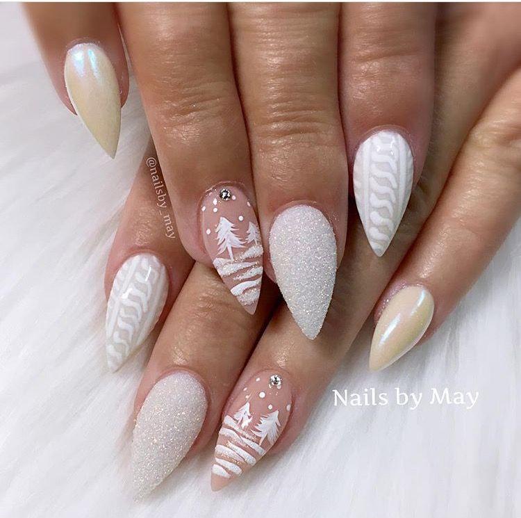 Светлые ногти дизайн 2020 (41)