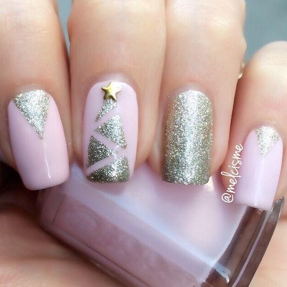 Светлые ногти дизайн 2020 (40)