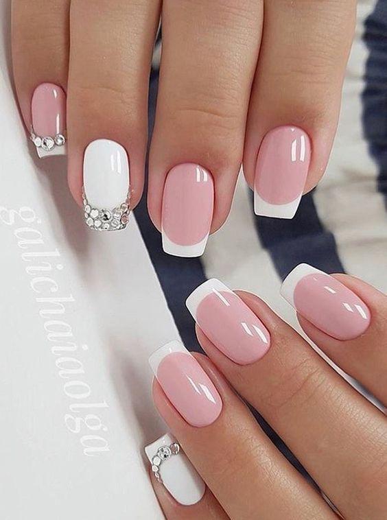Светлые ногти дизайн 2020 (55)