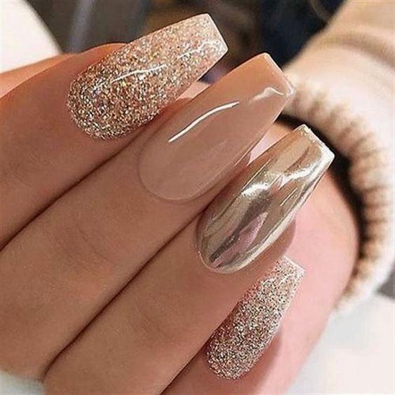 Светлые ногти дизайн 2020 (32)