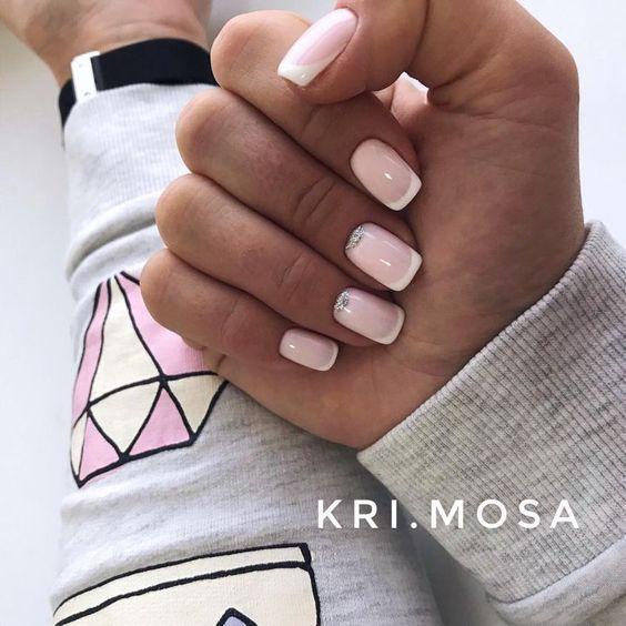 Светлые ногти дизайн 2020 (49)