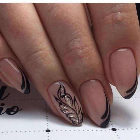 Рисунки на коротких ногтях (74)