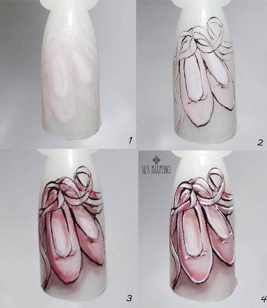 Рисунки на коротких ногтях (66)