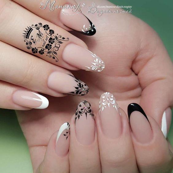 Рисунки на коротких ногтях (77)