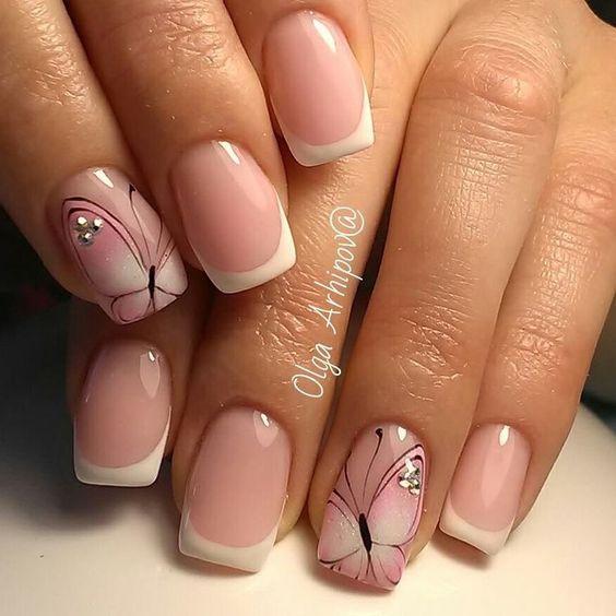 Рисунки на коротких ногтях (61)