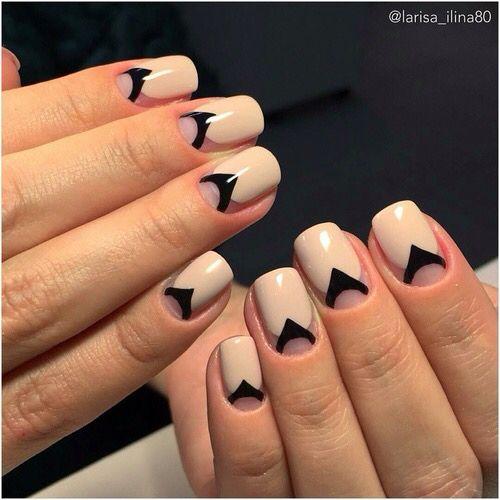 Рисунки на коротких ногтях (58)