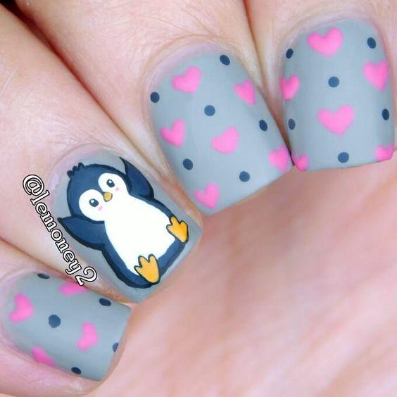 Рисунки на коротких ногтях (36)