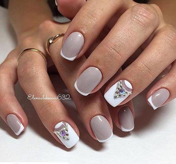 Рисунки на коротких ногтях (53)