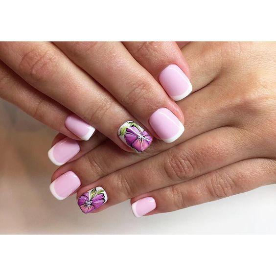 Рисунки на коротких ногтях (56)