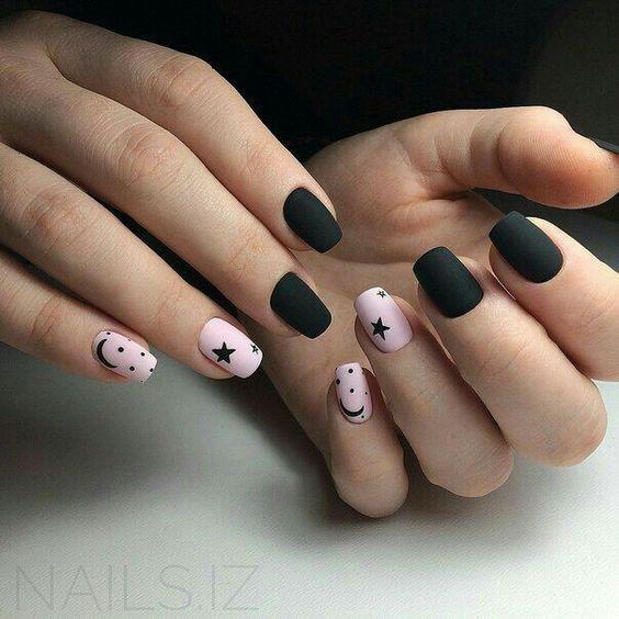 Рисунки на коротких ногтях (41)