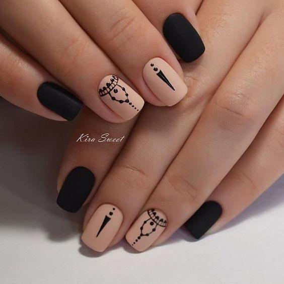 Рисунки на коротких ногтях (42)