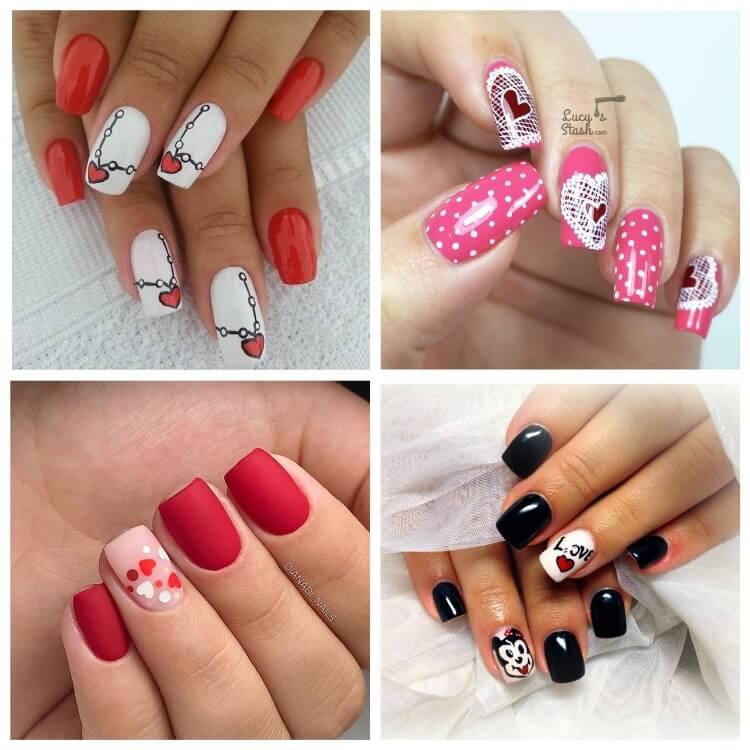 Рисунки на коротких ногтях (5)