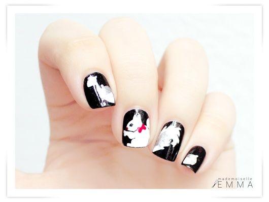 Рисунки на коротких ногтях (31)