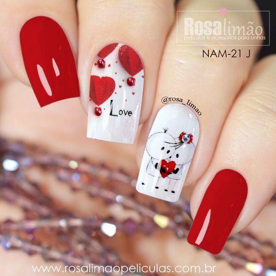 Рисунки на коротких ногтях (1)