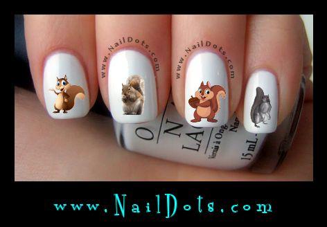 Рисунки на коротких ногтях (28)
