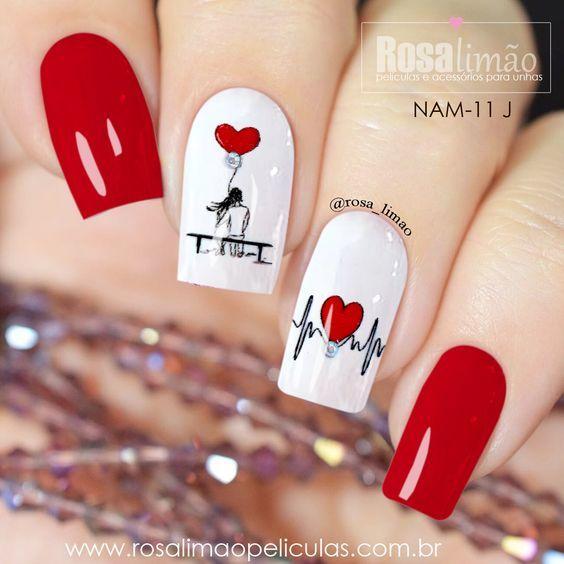 Рисунки на коротких ногтях (7)