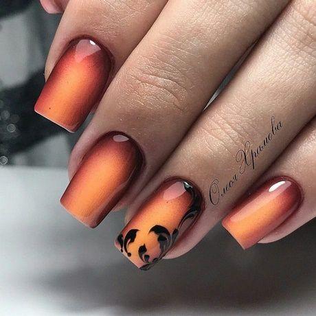 Рисунки на коротких ногтях (25)