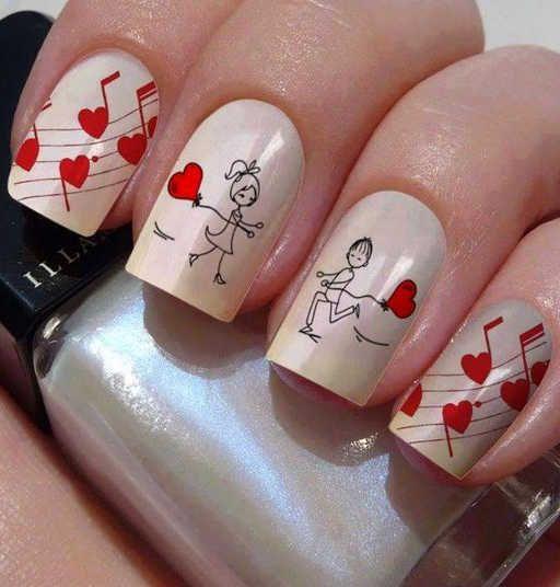 Рисунки на коротких ногтях (6)