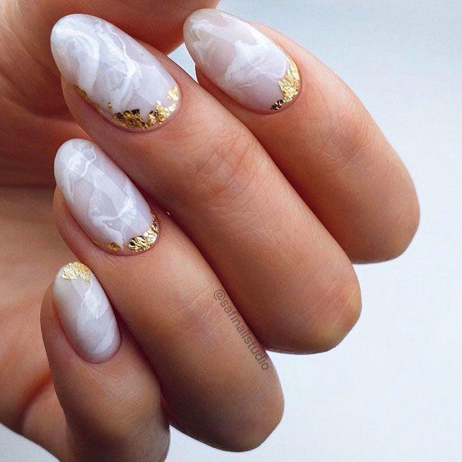 Рисунки на коротких ногтях (15)