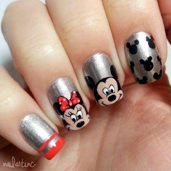 Рисунки на коротких ногтях (3)