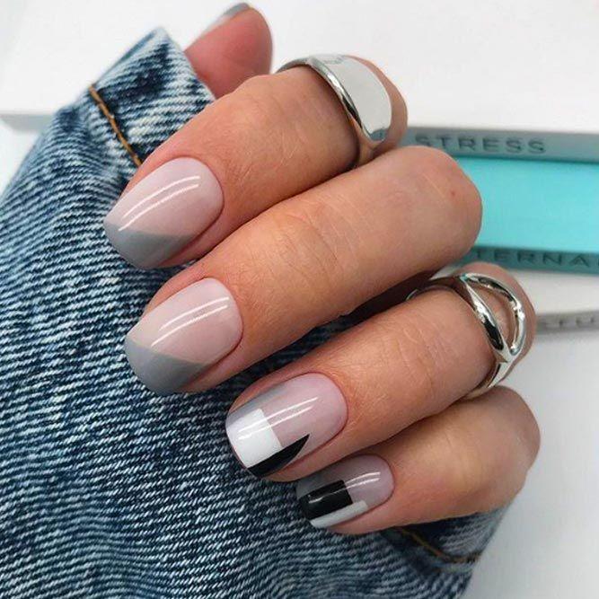 Рисунки на коротких ногтях (13)