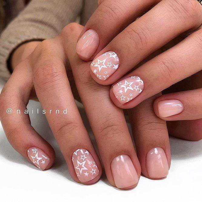 Рисунки на коротких ногтях (12)